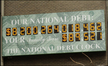national debt clock as of 3/28/06